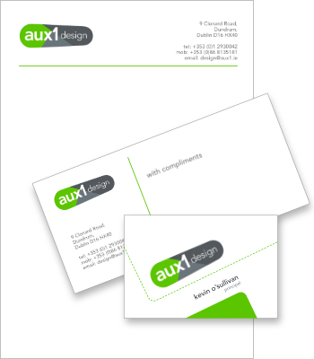 Aux1 Design stationery